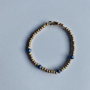 Armband gold blue